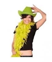 Cowboyhoed groen vilt
