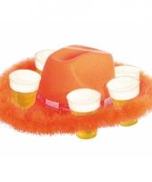 Cowboyhoed oranje voor bierglazen