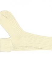 Creme witte sokken voor onder lederhose
