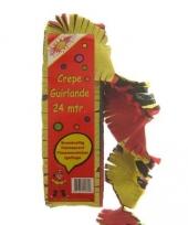 Crepe papier slingers rood geel zwart