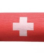 Crepe slinger zwitserse vlag