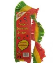 Crepe slingers rood geel groen