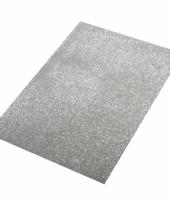 Crepla plaat zilver met glitters