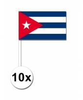 Cuba zwaai vlaggetjes set van 10