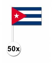 Cuba zwaai vlaggetjes set van 50