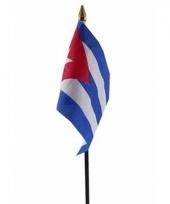Cubaanse landenvlag op stokje