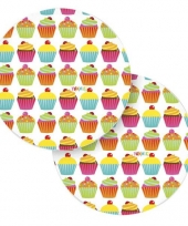 Cupcake feest bordjes