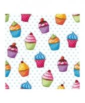 Cupcakes servetten 20 stuks