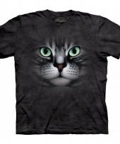 Cyperse kat poes t-shirt voor volwassenen