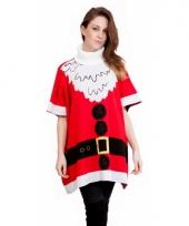 Dames kerstmis poncho kerstman