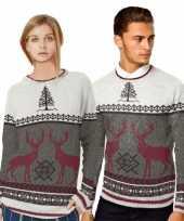 Dames kerstmis trui met rendieren