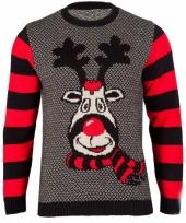 Dames kerstmis trui rudy reindeer