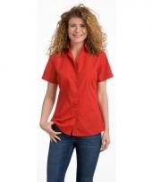 Dames overhemd rood van l s 10047106