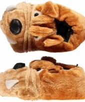 Dames pantoffels bulldog