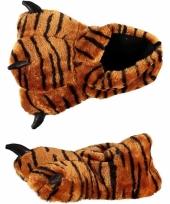 Dames pantoffels tijgerpoot