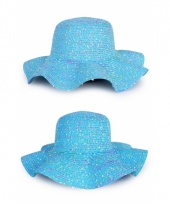 Dames zomer flap hoed blauw