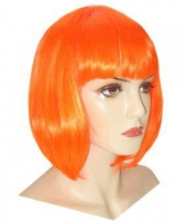 Damespruiken oranje bob lijn