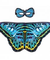 Dans aurelia blauwe vlindervleugels voor kinderen