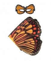 Dans monarch oranje vlindervleugels voor kinderen