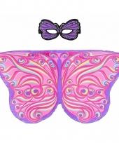 Dans roze paarse vlindervleugels voor kinderen