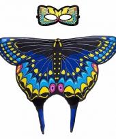 Dans zwaluwstaart blauwe vlindervleugels voor kinderen