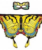 Dans zwaluwstaart gele vlindervleugels voor kinderen
