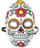 Day of the dead sugarskull halloween gezichtsmasker voor dames
