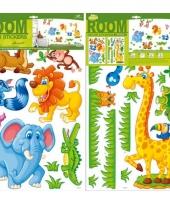 Deco muurstickers safari 27 stuks