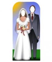 Decoratie fotobord bruidspaar