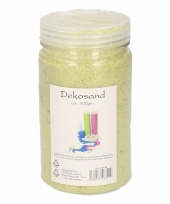 Decoratie korrelzand lime 500 gram