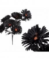 Decoratie kunstbloem gerbera zwart 40 cm