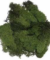 Decoratie mos donkergroen 50 gram