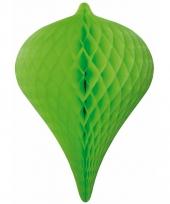 Decoratie parel groen 30 cm