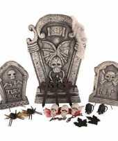 Decoratie set grafstenen met led licht