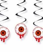 Decoratie slingers oogbollen 3 stuks