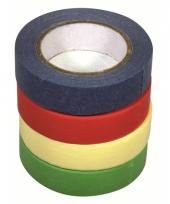 Decoratie tape set 4 stuks