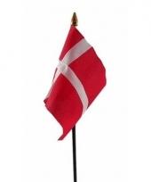 Deense landenvlag op stokje
