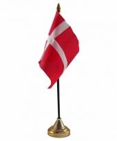 Denemarken tafelvlaggetje 10 x 15 cm met standaard