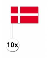 Denemarken zwaai vlaggetjes 10 stuks