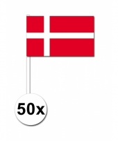 Denemarken zwaai vlaggetjes 50 stuks