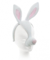 Diadeem masker konijn met oren