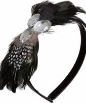 Diadeem met veren en steentjes