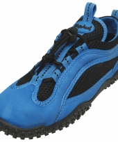 Dichte waterschoenen blauw met zwart