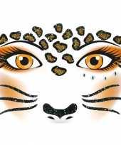 Dieren gezicht sticker luipaard