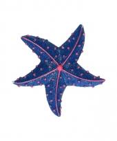 Dieren magneet zeester donkerblauw 7 5 cm
