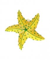 Dieren magneet zeester geel 7 5 cm