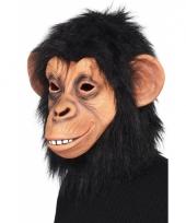 Dierenmasker chimpansee met haar
