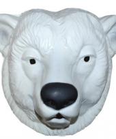 Dierenmasker witte ijsbeer