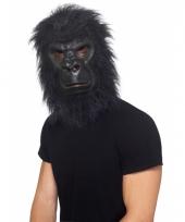 Dierenmasker zwarte aap met haar