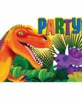Dino themafeest uitnodigingen 16 stuks van papier karton